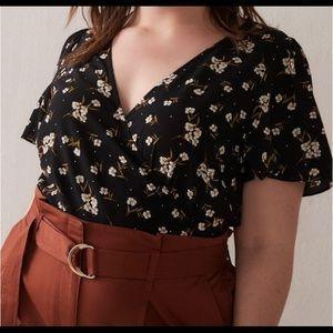 Additionelle | Floral Wrap Blouse | Size XL